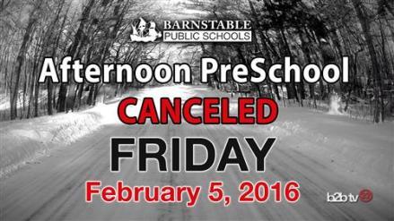 PreSchool Cancelled